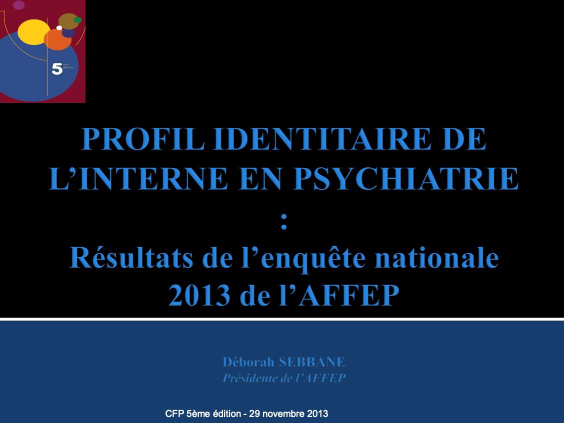 2012-2013 Profil identitaire de l_interne en psychiatrie