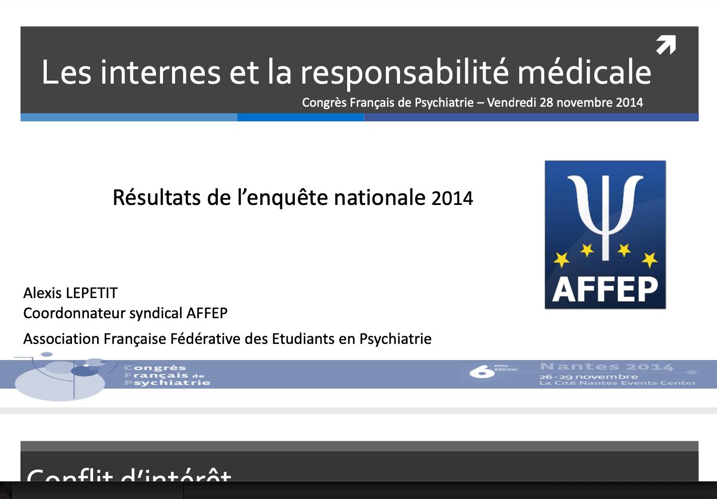 2013-2014 Les internes et la responsabilité médicale