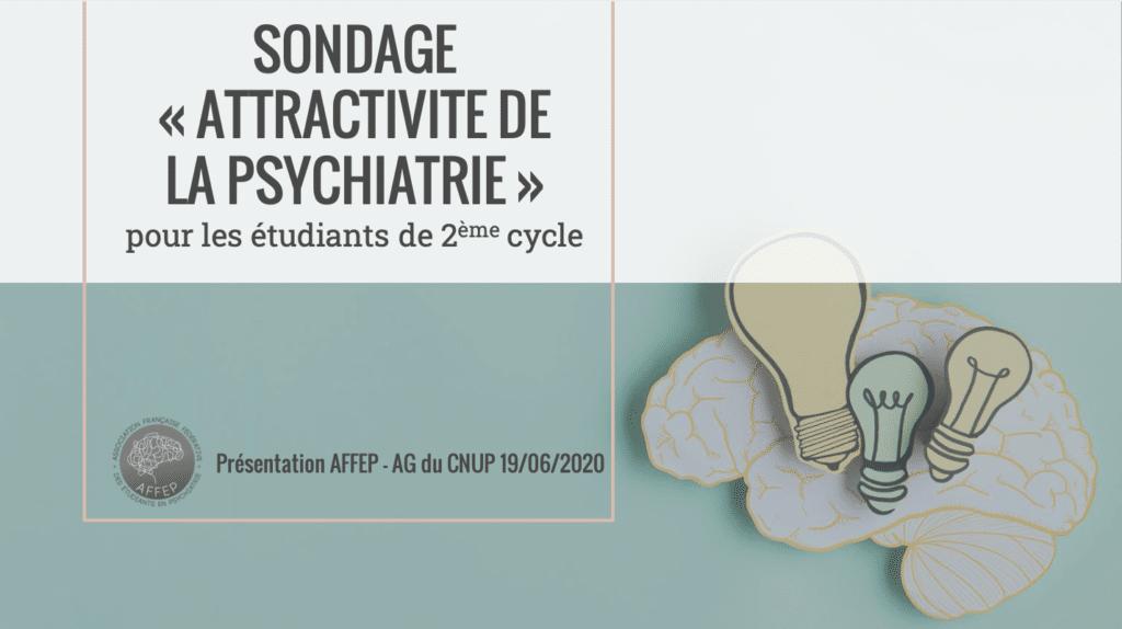 2019-2020 Sondage attractivité de psychiatrie