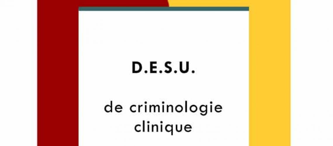 DESU Criminologie 3